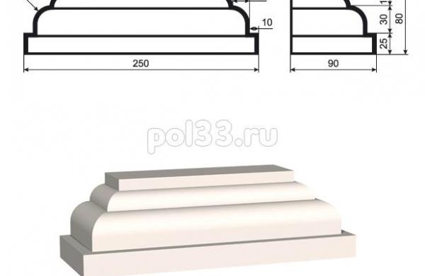 Пилястра Lepninaplast (Лепнинапласт) ПЛВ-150-6