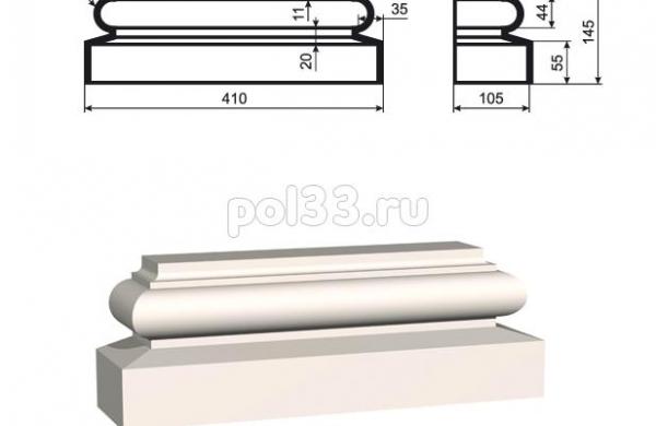 Пилястра Lepninaplast (Лепнинапласт) ПЛВ-300-6
