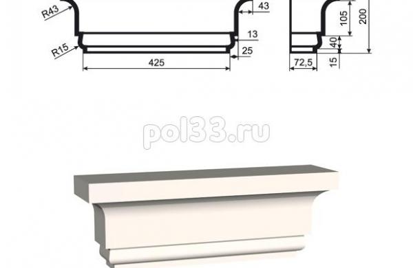 Пилястра Lepninaplast (Лепнинапласт) ПЛВ-400-1