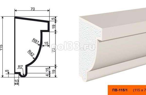 Подоконник Lepninaplast (Лепнинапласт) ПВ-115-1