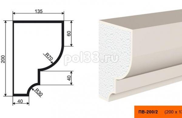 Подоконник Lepninaplast (Лепнинапласт) ПВ-200-2