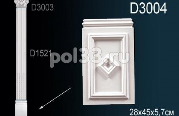 Лепной декор Perfect Пилястры D3004