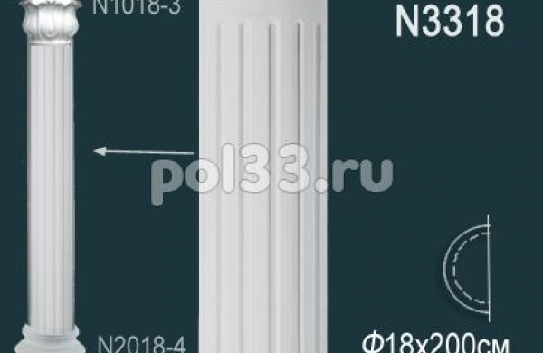 Лепной декор Perfect Полуколонна N3318