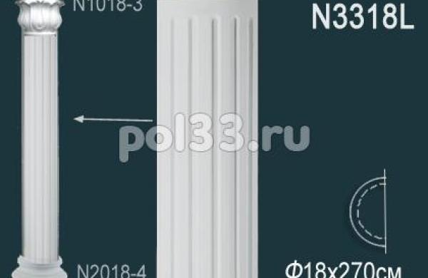 Лепной декор Perfect Полуколонна N3318L