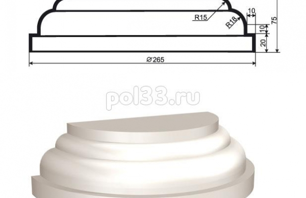 Полуколонна Lepninaplast (Лепнинапласт) 1-КЛВ-155-4
