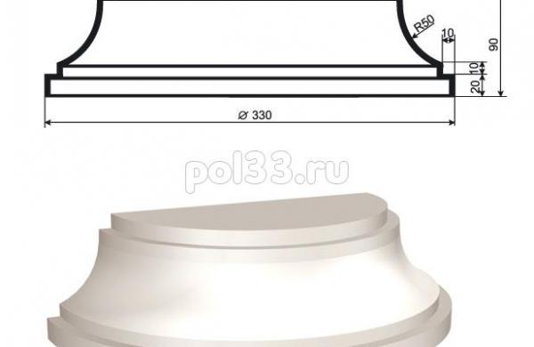 Полуколонна Lepninaplast (Лепнинапласт) 1-КЛВ-205-4