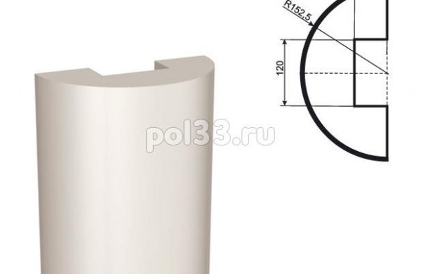Полуколонна Lepninaplast (Лепнинапласт) 1-КЛВ-305-2 2000 мм