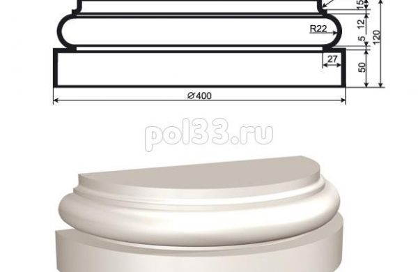 Полуколонна Lepninaplast (Лепнинапласт) 1-КЛВ-305-4