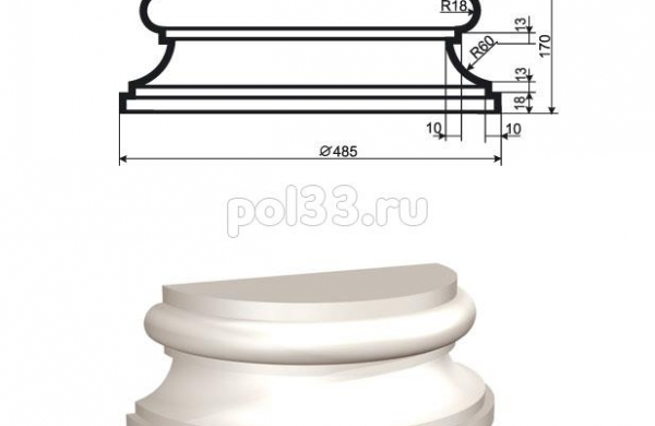 Полуколонна Lepninaplast (Лепнинапласт) 1-КЛВ-355-4
