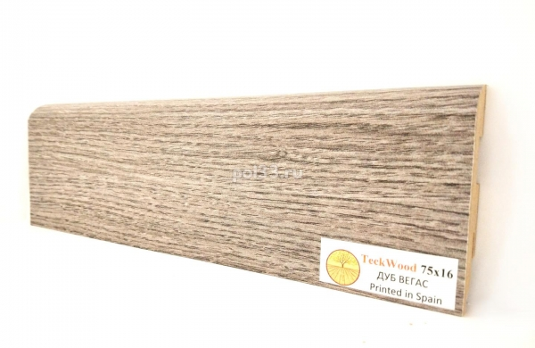 Плинтус мдф ламинированный цветной Teckwood Дуб Вегас