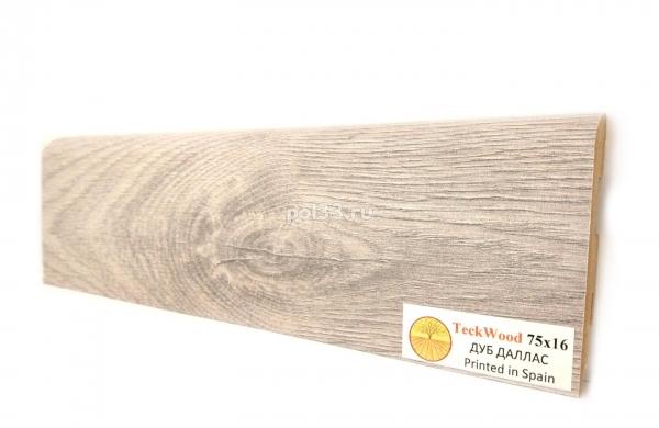 Плинтус мдф ламинированный цветной Teckwood Дуб Даллас