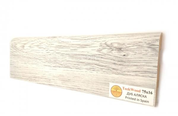 Плинтус мдф ламинированный цветной Teckwood Дуб Аляска