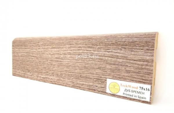Плинтус мдф ламинированный цветной Teckwood Дуб Бремен