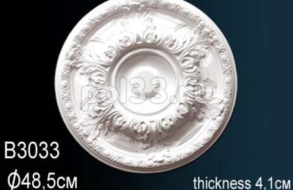 Лепной декор Perfect Розетка B3033